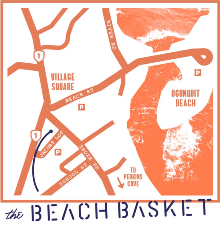 Beach Basket Directions - Map Maine